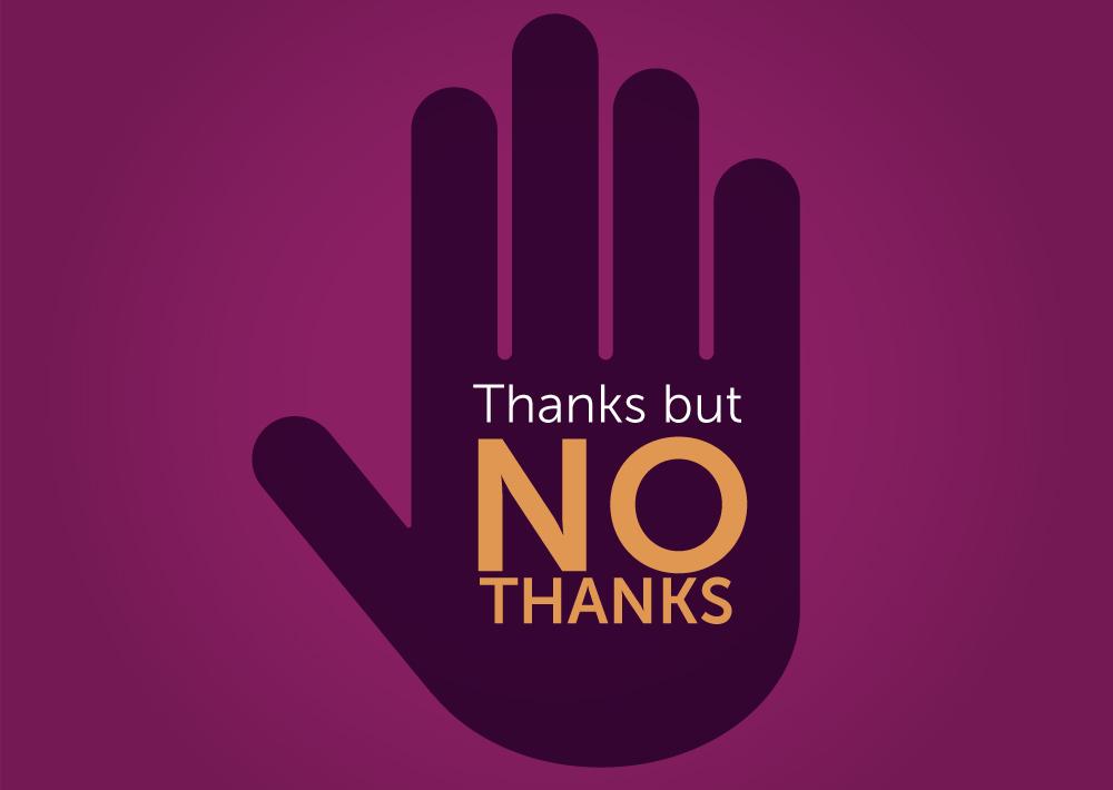 """L'importanza di saper dire """"No"""" e di aggiungere """"grazie"""""""